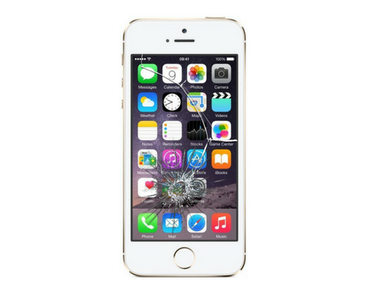 iPhone 5SE Cracked Screen Glass Replacement