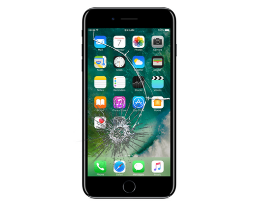 iPhone 8 Plus Cracked Glass Screen Replacement