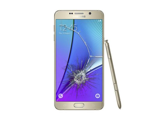 Galaxy Note 5 Cracked Glass Screen Replacement
