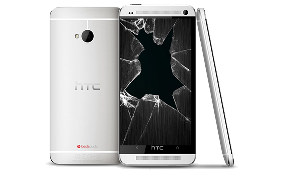 HTC One M7 Cracked Glass Screen Replacement