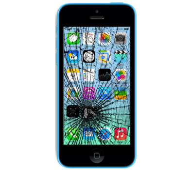iPhone 5C Cracked Glass Screen Replacement