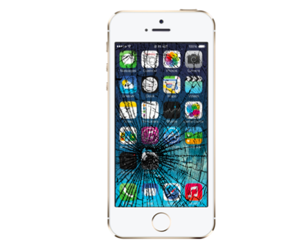 iPhone 5S Cracked Glass Screen Replacement